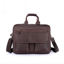 Crazy Horse male Baotou cowhide Shoulder Messenger Laptop models provided vertical Leather Briefcase Bag