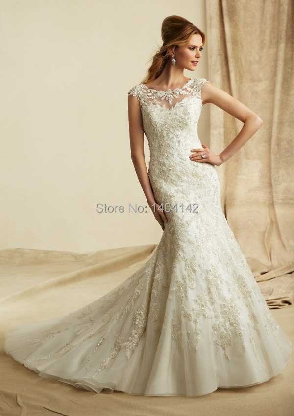 2017 latest mermaid lace wedding gowns cap sleeves open for Pinterest wedding dress lace