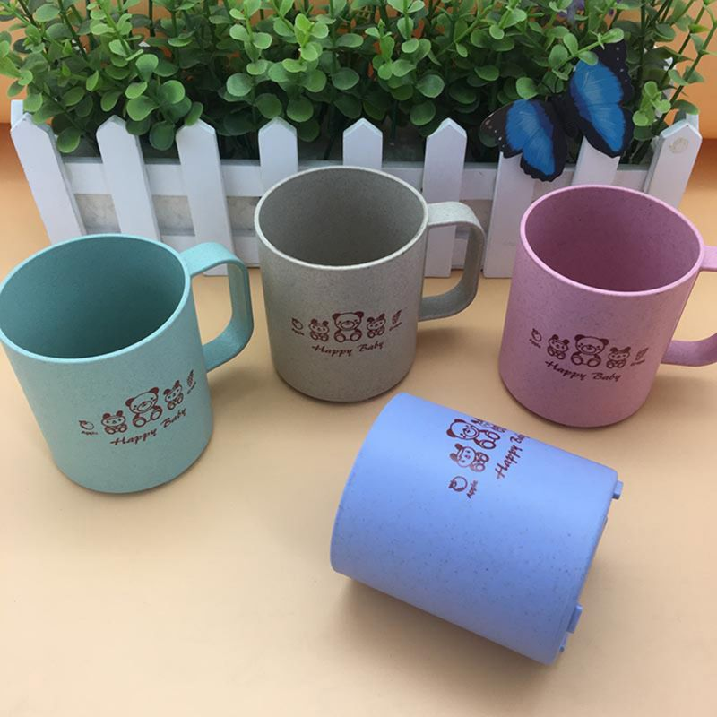 1Pcs 250ml  Milk Kids Cup Home Cartoon Drink Baby Feeding Cups Infant Children With Baby Mug Breakfast Handle