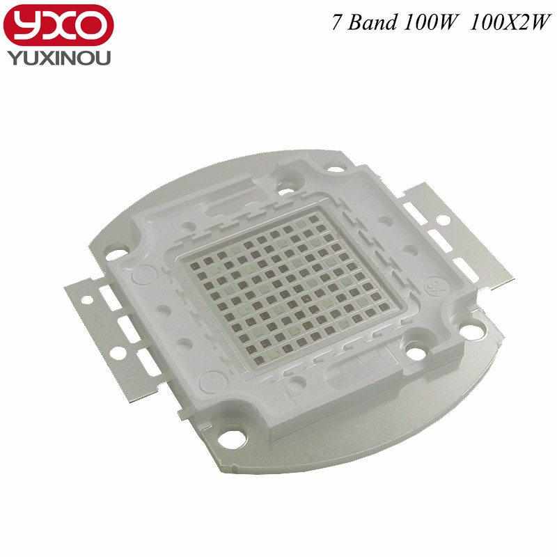 100W 200w grow led chip,full spectrum 7 band 8 band red blue with FR UV for indoor plant seeding grow flower,3 years warranty