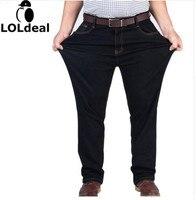 Mens High Stretch Plus Size 38 40 42 44 46 48 Jeans Black Denim Business