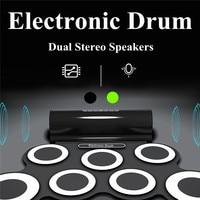 Eletronic 7 Trommel Pads Beweglicher Roll Up Elektronische Drum Pad Kit mit Lautsprecher Kinder Geschenk Drums & Lautsprecher Alle in Einem