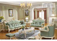 DSinterior soft american style furniture genuine leather sofa set combination