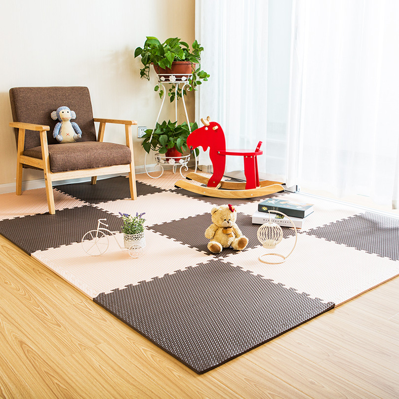 JCC mélange feuille motif bébé EVA mousse Puzzle tapis de jeu/enfants tapis tapis de verrouillage exercice plancher pour enfants carreaux 60*60*1.2 cm - 6