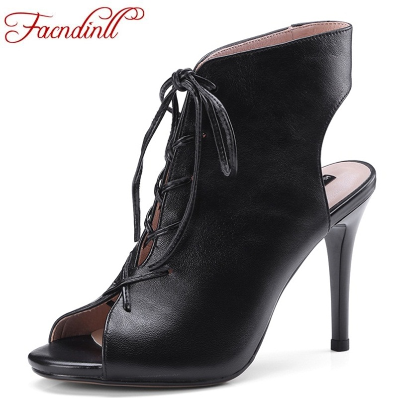 FACNDINLL transparent women ankle boots super thin high heels new women lace up sexy peep toe boots ladies party dress shoes new good looking bright color women ankle boots lace up tassel decorated high heels peep toe sandal boots summer women shoes