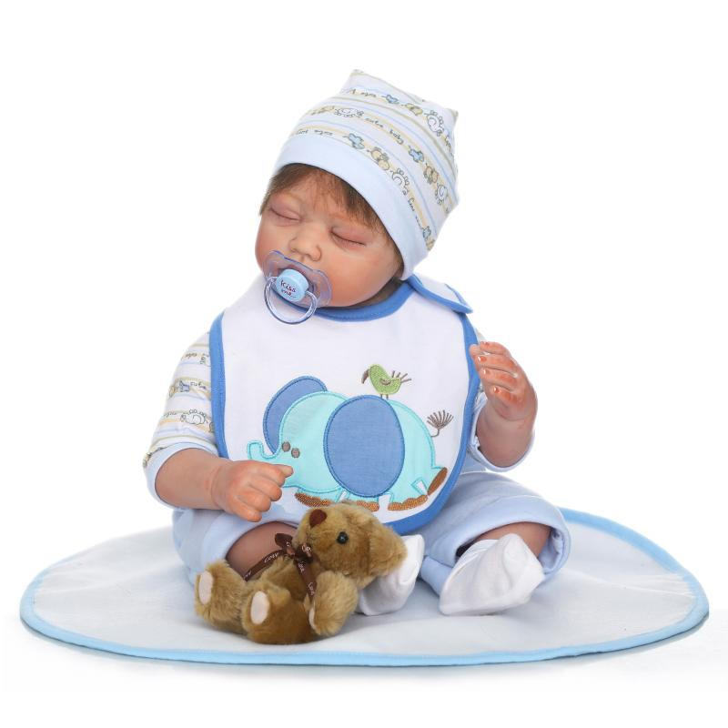 Fashion Baby Doll 22 Reborn Silicone Soft Cotton Body Newborn sleeping quiet bebe Real Looking toddlers kids birthday giftsFashion Baby Doll 22 Reborn Silicone Soft Cotton Body Newborn sleeping quiet bebe Real Looking toddlers kids birthday gifts