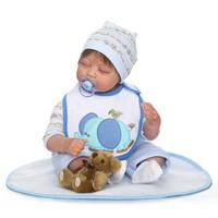Fashion Baby Doll 22 Reborn Silicone Soft Cotton Body Newborn sleeping quiet bebe Real Looking toddlers kids birthday gifts