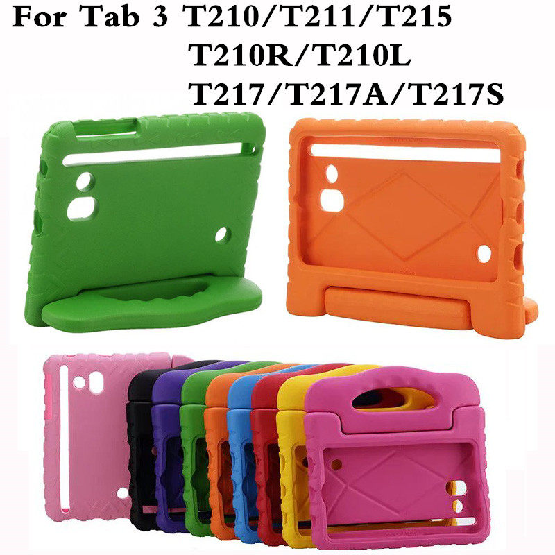 Shockproof Tablet Back Case For Samsung Galaxy Tab 3 7.0 T210 T211 T210R T217 Kids T2105 Universal Protective Hand Holder...  samsung kids tablet case | Samsung Galaxy Tab 4 Case NEWSTYLE Shockproof Case Light Weight Kids Case Shockproof font b Tablet b font Back font b Case b font For font b Samsung