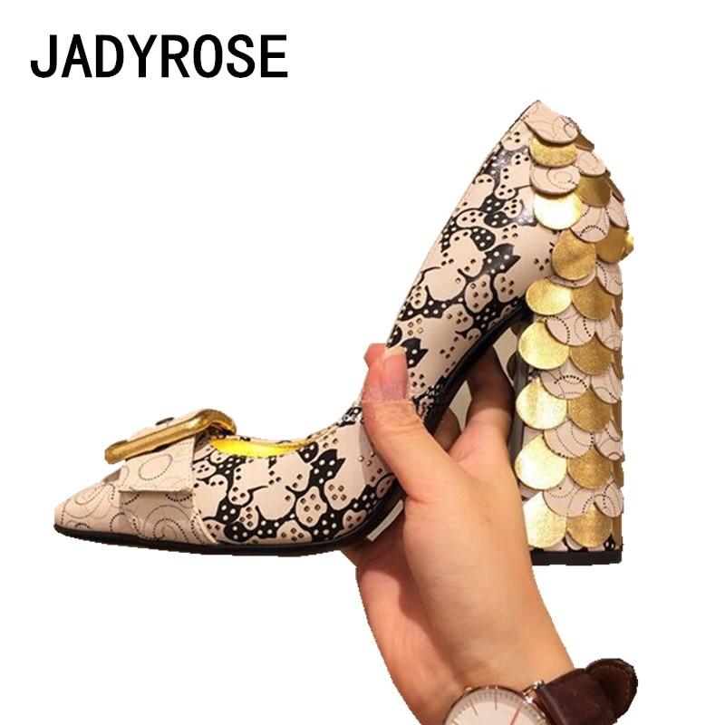 De Cuadrado Fiesta Las Zapatos Rosa Impresión Novia Decoración Dedo Boda Mujeres Bombas Tacones Alta Hebilla Del Formal Pie Vintage Oficina nIvdqd