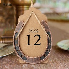 OurWarm 10pcs Good Lucky Horseshoes with Kraft Tags Rustic Wedding Souvenirs and Gifts Favors Decoration