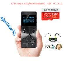 Xduoo X3 MP3 HIFI Music Player with HD OLED Screen Support APE/FLAC/ALAC/WAV/WMA/OGG/MP3 With Free Earphone/32GB TF card