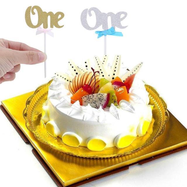 12 Stucke Ersten Geburtstag Cupcake Kuchen Topper Glitter Glucklich