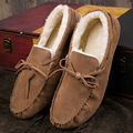 Casual Winter Men Loafers Warm Plush Suede Moccasins Flat Shoes Slip-On Fur Lined Driving Boat Shoes NSX62