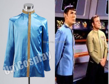 Star Trek First Officer Satin Jacket Costume Blue