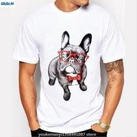 GILDAN Nowe Okulary Animal Print T Shirt Śmieszne Pies Tshirt Mężczyźni Koszulki Dorywczo Fajny T-shirt Z Krótkim Rękawem