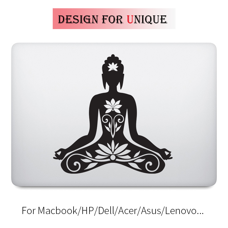 Thoughtful Buddha Decal Yoga Laptop Sticker for font b Apple b font font b Macbook b