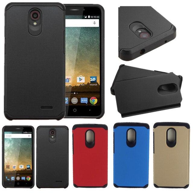 AtomBros For ZTE Uhura N817 Case Hybrid Rugged Plastic Armor Matte Shockproof Hard Phone Cases Shockproof Cover