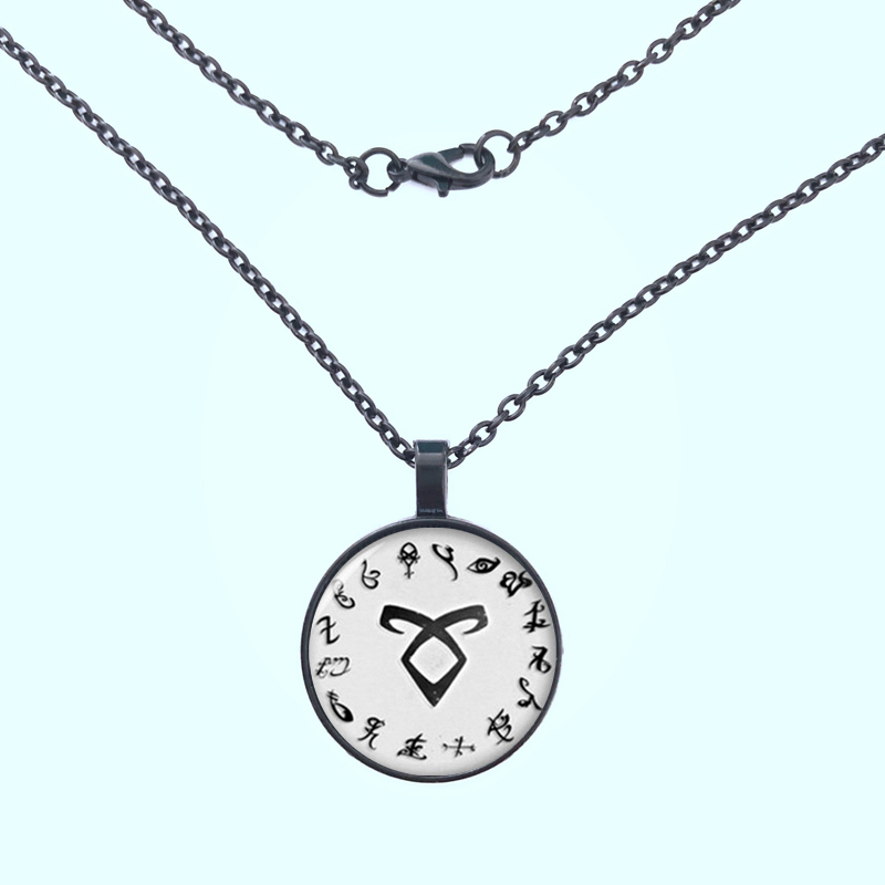 The Mortal Instruments City of Bones necklace Vintage Angelic Power Runes Shadowhunters Pendant necklace for Men and Women gift in Pendant Necklaces from Jewelry Accessories