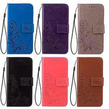 Кожаный чехол с 3D цветами для Xiaomi Mi 4 4W 4C 4I 5 5C 5S Plus 6 Note 2 3, флип-чехлы для телефонов, чехол-бумажник