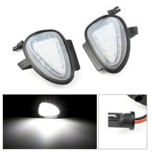 цена на 2 pieces White Under LED Side Mirror Puddle Light Lamp 12V For Volkswagen VW Golf 6 GTi MK6 6 MKVI 2010 2011 2012 2013 2014