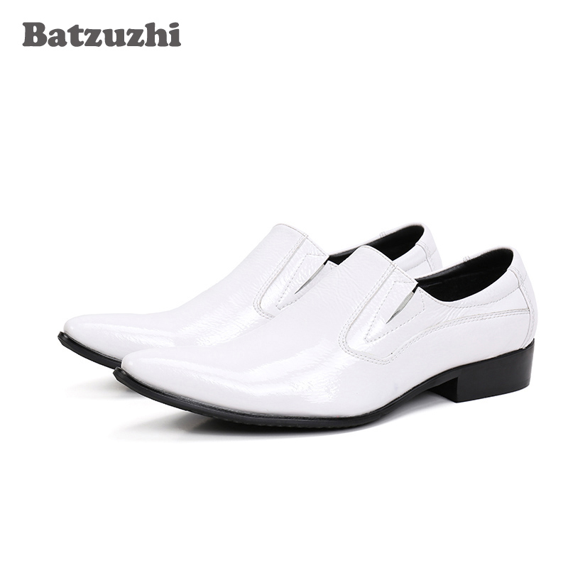 Batzuzhi fashion mens classic shoes high Increased genuine leather men dress shoes pointy Wedding Dress Shoes for men size46 classic style classic mens dress shoes deep coffee color genuine leather oxford shoes for men lace up pointy loafers high heels