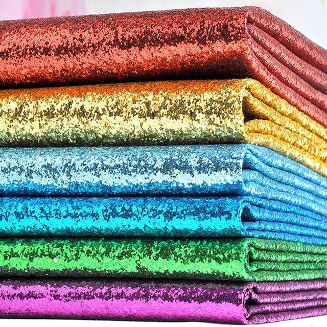 Faux Couro PU Glitter Tecido de Lantejoulas, Couro sintético para Decoração Da Parede, Couro Artificial para material de costura, atacado