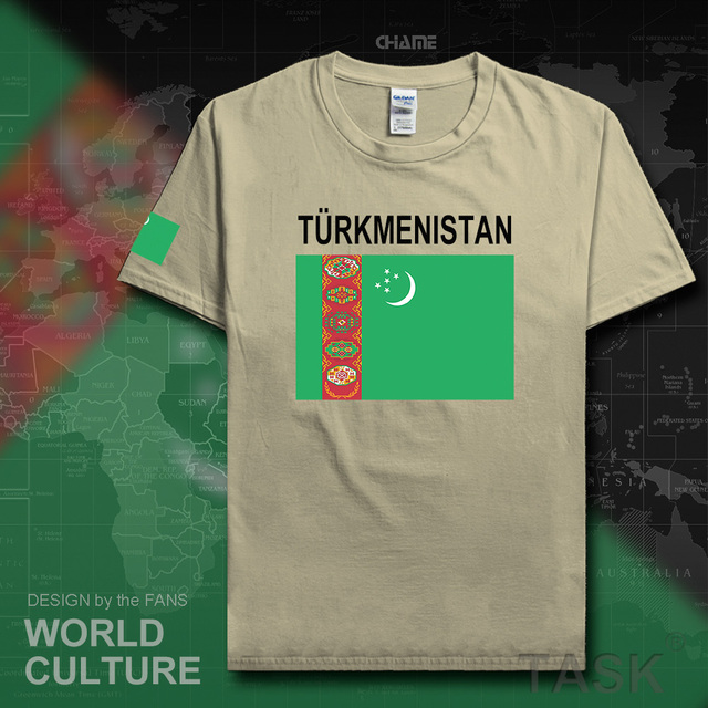b70e99ee07127 Turkmenistan Turkmen мужские футболки 2017 майки nation team Футболка 100%  хлопок футболка одежда Футболки страна