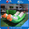 air sealed 0.9mm pvc tarpaulin inflatable Seesaw,inflatable rocker, inflatable seasaw rocker for water sports