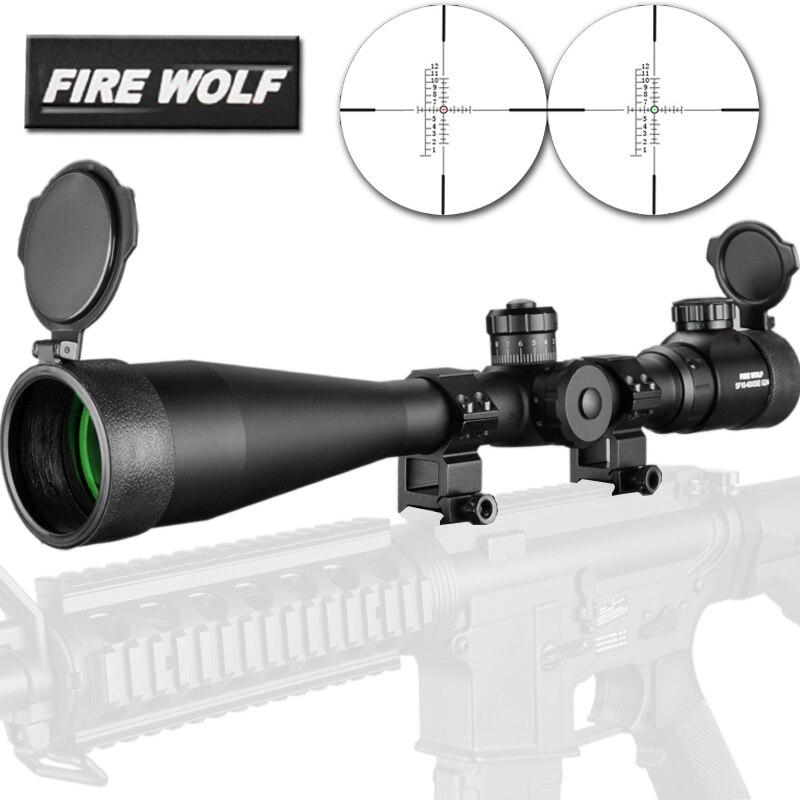 10-40x50 Long Range Riflescope Side Wheel Parallax Optic Sight Hunting Scopes Sniper Luneta Collimator Mira Telescopica