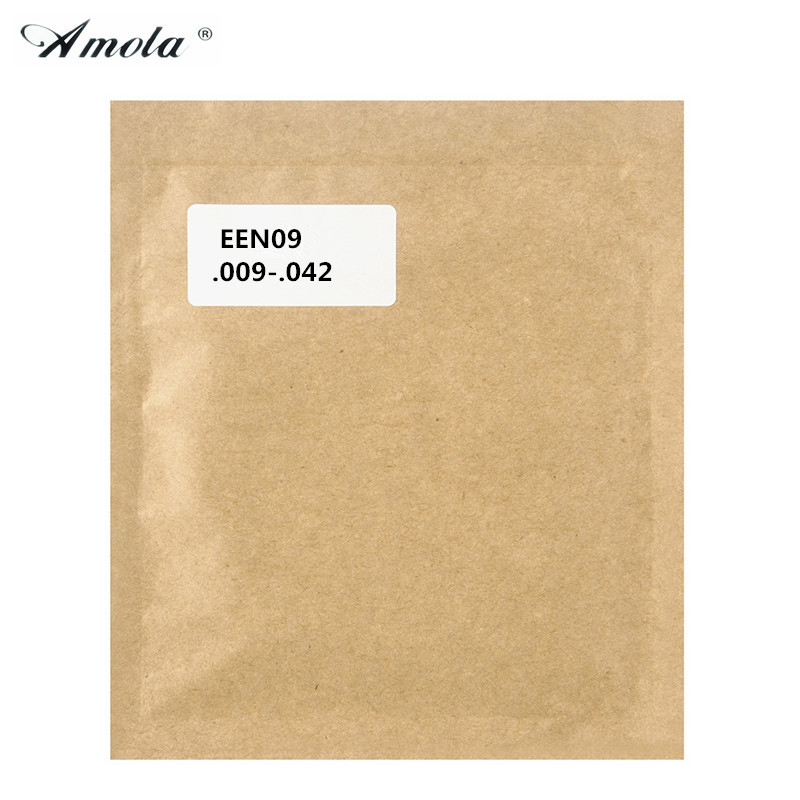 Original Amola EEN09  Stainless Steel Nickel Wound Electric Guitar 1st-6th Strings 009 042 Super Vacuum packing 1 sets 009 042 electric guitar strings color nickel alloy hat cew730