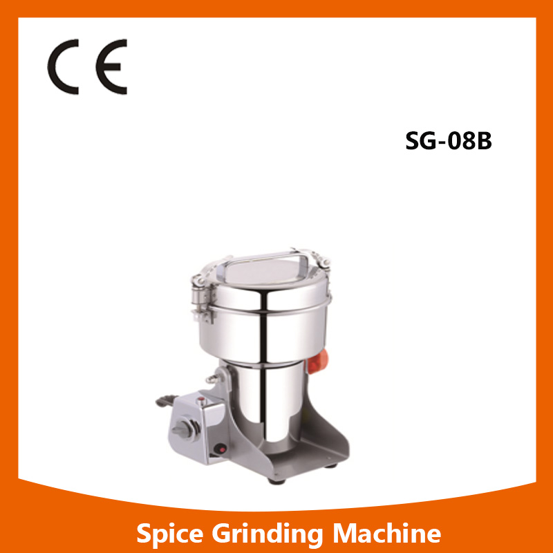 SG-08B multifunction swing type stainless steel high speed dry food mill SG-08B spice grinder machine dry food grinder machine swing type electric grains herbal powder miller high speed spices cereals crusher w ce ccc
