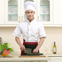 Chef S Short Sleeved Wear White Short Sleeved Hotel Restaurant Shirt Fast Food Restaurant Kitchen Work