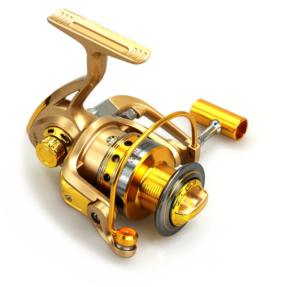 Durable Cheaper Fishing Reel Pre-Loading Spinning Wheel Yellow 10 BB Metal 5.5:1 1000/7000S 210/370g Ocean Boat Fishing