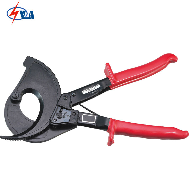 HS-520A Cutting range:400mm2 max Ratchet cable cutter with safety lock  ratchet style and aluminum wire cable cutter maintenance tools hs 520a