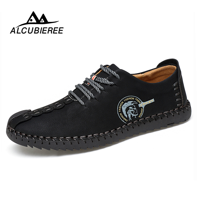2019 Designer Fashion Comfortable Casual Shoes Loafers Men Shoes Quality Split Leather Shoes Men Flats Hot Sale Moccasins Shoes