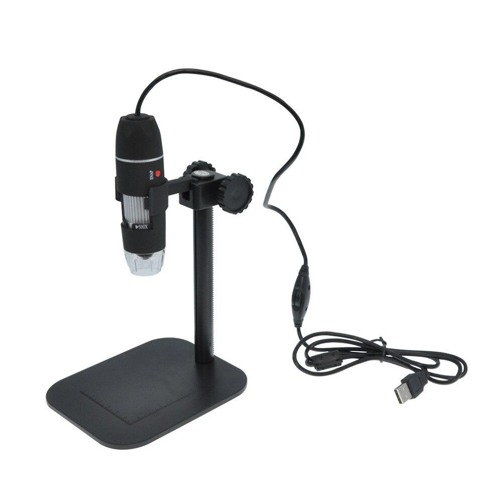 Praktische Elektronik USB 8 LED Digital Kamera Mikroskop Endoskop Lupe 50X ~ 500X Vergrößerung Messen