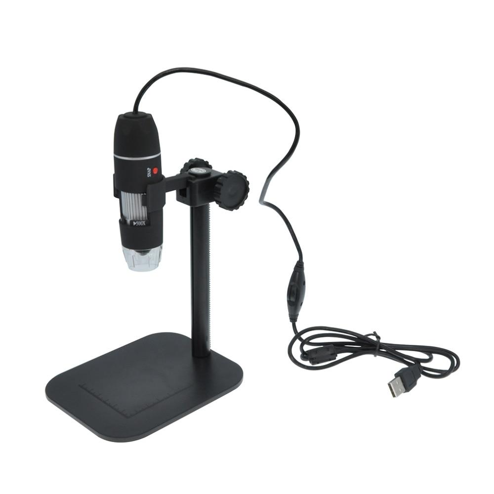 Pratico Elettronica 5MP USB 8 LED Digital Camera Dell'endoscopio Del Microscopio del Magnifier 50X ~ 500X Ingrandimento Misura