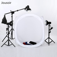 Photo Studio Accessories 135w Studio Photo Continuous Lighting Round Soft box Light Shooting Tent 4 Backdrops+2*68cm light stand