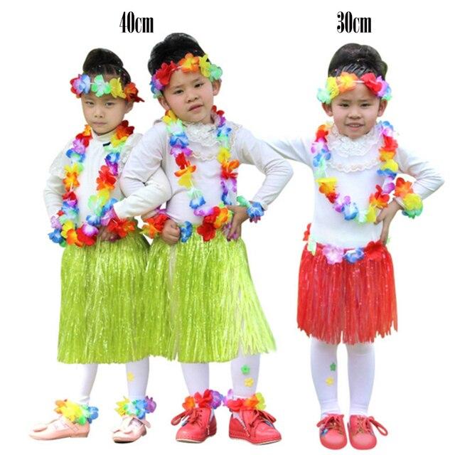 10 satz/1ot 40 cm Kinder Hawaiia Hula Rock Armbänder Garland ...