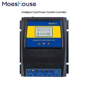 Image 2 - Otomatik çift güç aktarma anahtarı 11000W Max güç güneş şarj regülatörü güneş rüzgar sistemi için AC 110V 220V açık/kapalı izgara