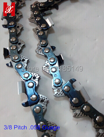Small 3/8 Pitch .058 Guage Chainsaw Chains Square Tooth Chains Factory Selling Directly 100 feet chainsaw chains sae8660 hu365 3 8 pitch 058 1 5mm guage 18 inch 68dl saw chains