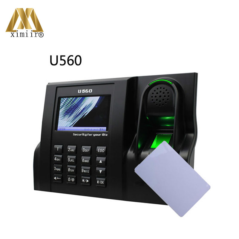 Linux system U560 optical sensor  fingerprint time attendance RFID card employee time attendance device with TCP/IP-in Electric Attendance from Security & Protection on ximiir Biometric Systems Store