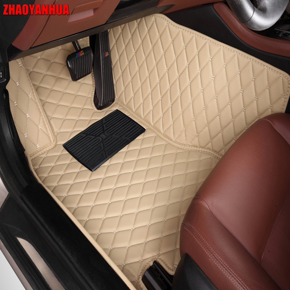 ZHAOYANHUA Car floor mats for Chevrolet Sonic Aveo waterproof 5D car-styling all weathe rugs accessories liners carpet (2011-now