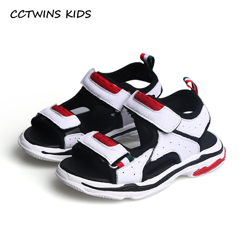CCTWINS KIDS 2018 Summer Children Fashioin Barefoot Beach Sandal Baby Boy Brand Casual Flat Girl Black Sport Shoe Toddler BB138