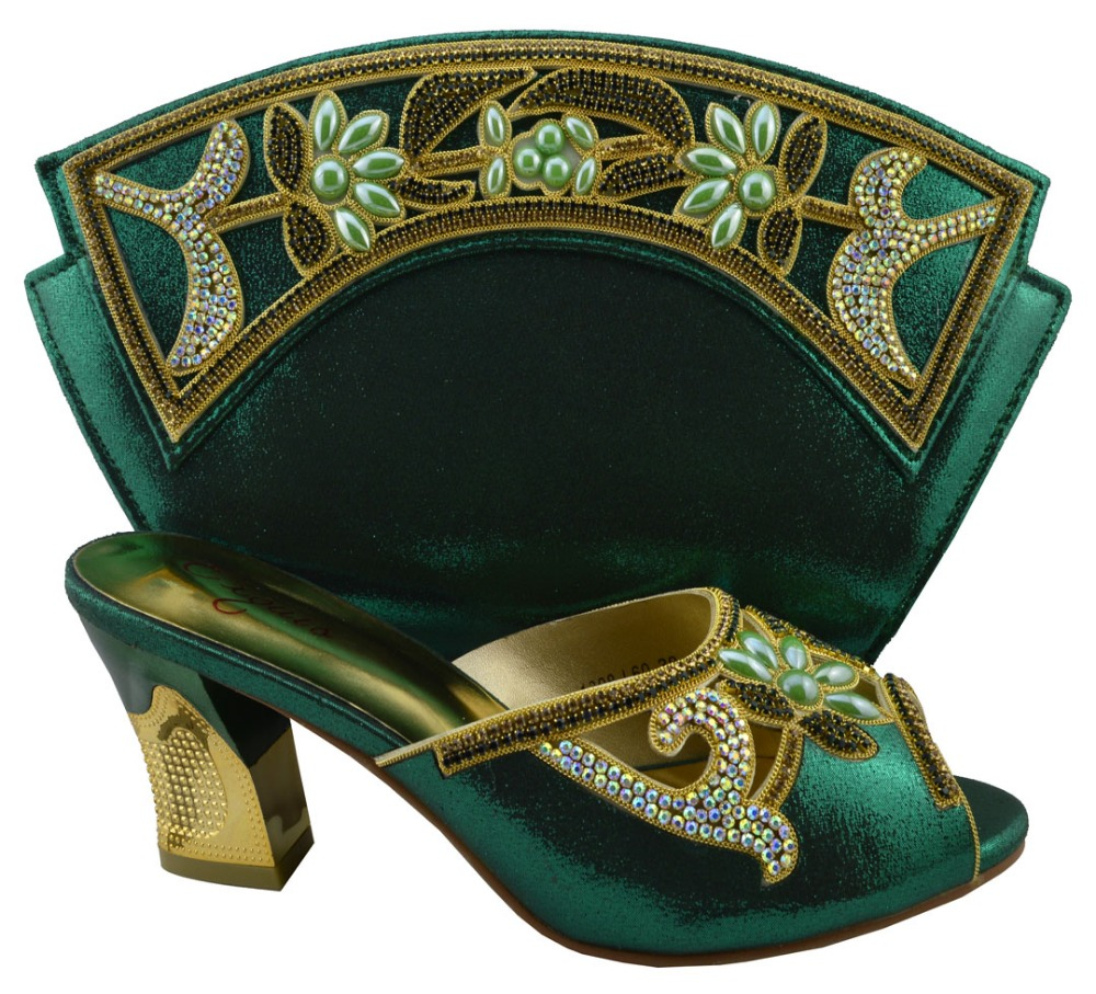 ФОТО New Arrival African Luxury High Heels Matching Bag Italian Shoes And Bags Series For Woman Formal !HZL1-17