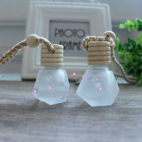 6ML 40pcs/lot Matte Glass Perfume Packing Bottle, Empty Car Hang Pandent Decoration, DIY Perfume Refillable Container