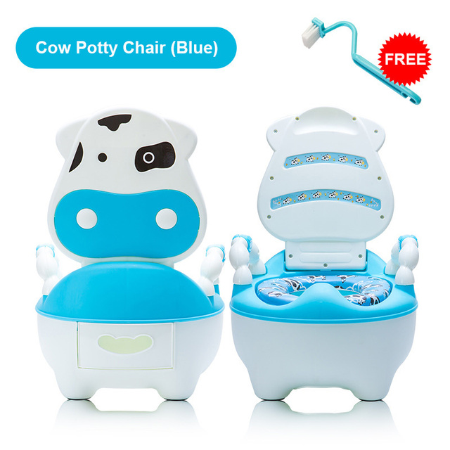 potty chair for girls 2 person dining table and chairs lovely cute cow baby boys toddler training toilet with soft cushion seat