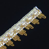 Braided Gold Trim Craft Lace Ribbon Applique Embellishment Metallic Trimming For Garment Clothes 20yard/T1274
