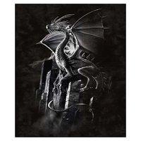 Silver Dragon Peluche Visone Coperta Queen Size-Signature Collection-79x95 da K2