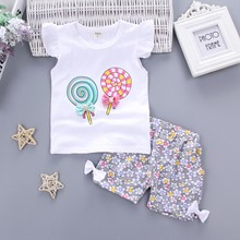 Baby Girls Clothing Outfits Sets Printed Tracksuits